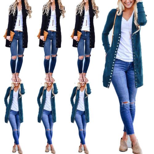 Women's Long Sleeve Casual Knitted Sweater Jumper Cardigan K