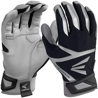 Easton Z7 VRS Hyperskin Batting Gloves Gray/Black YOUTH Large Athletic Easton Vrs Batting Gloves
