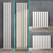 White Vertical Horizontal Flat Column Panel Designer Radiator Tall Upright