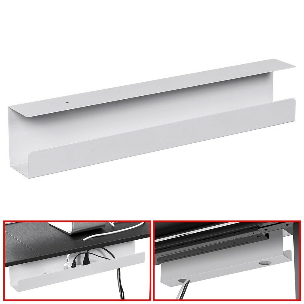 Details About Under Desk Cable Cord Management Tray Strip Adapter Organizer Steel 23
