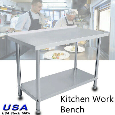 Stainless Workbench - Work Bench Table Platform Operating Work Station Stainless Steel Kitchen Desk
