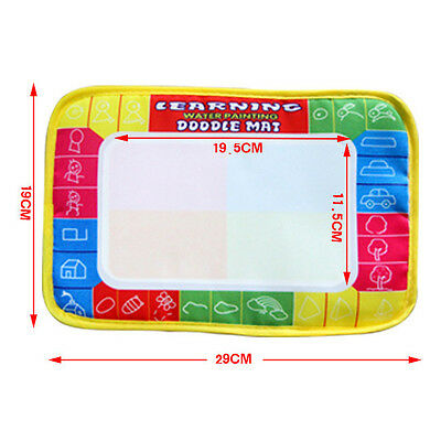 Drawing Water Pen Painting Writing Magic Doodle Mat Board Kid Boy Girl Toy