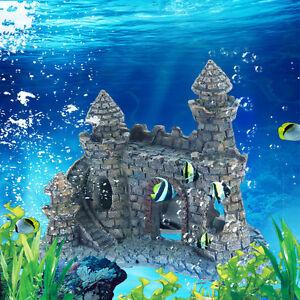 Fish tank ornament stone ebay for Fish tank castle decorations
