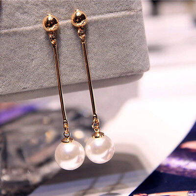 Korean Women Fashion Pearl Tassel Earrings Wholesale Earring Long Section Retro
