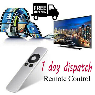 UK✔ Top Seller Silver Genuine Replacement Remote Control for Apple TV TV2 TV3