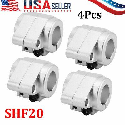 4pcs Shf20 Linear Rod Rail Shaft Support Aluminum Alloy High Strength Us