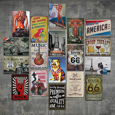 Retro Metal Tin Sign Poster Plaque Bar Pub Club Cafe Home Plate Wall Decor Art - Metal Home Cafe Signs