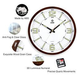 14'' Large Slient Quartz Wall Clock Non Ticking Luminous Number Night Light USA