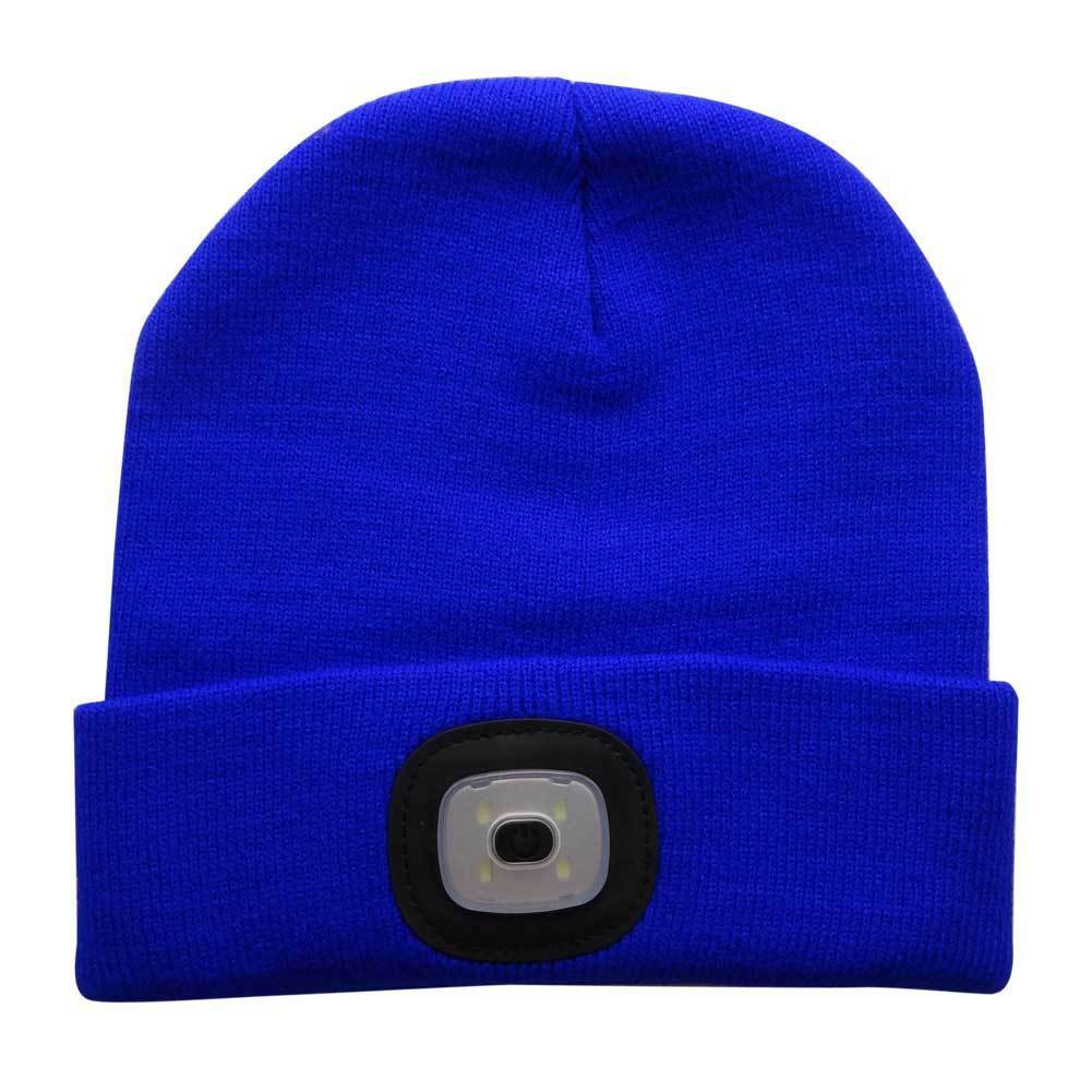 16cd521e7598a Unisex LED Beanie Hat With USB Rechargeable Battery 5 Hours High Powered  Light