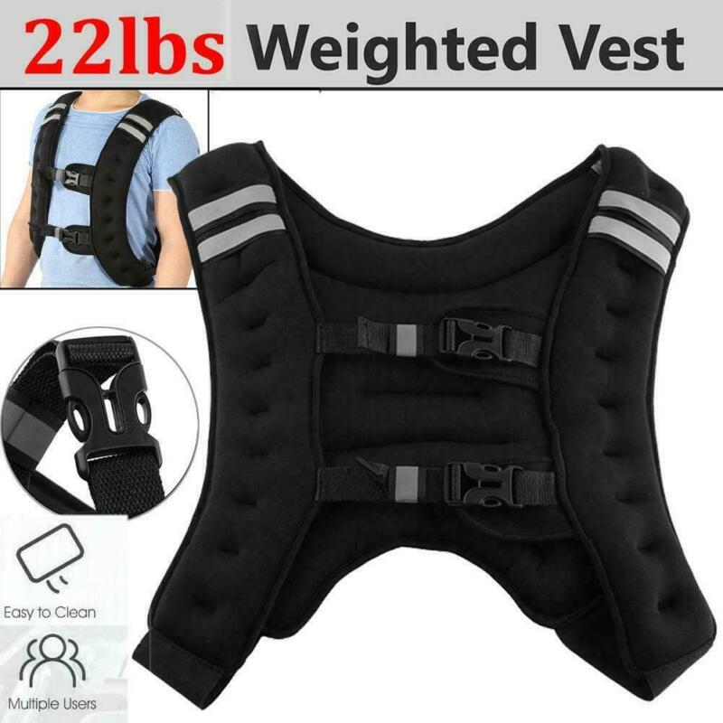 Weighted Workout Vest 22 Lbs Exercise Training Running Cardio Fitness Men Women