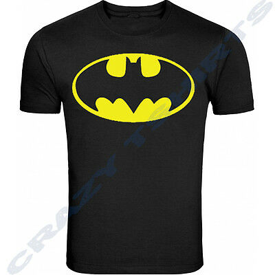 DC Comics Batman Classic Logo Official Licensed NWT Adult T-Shirt - Black