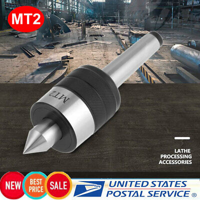 "MT2 CNC Live Center Set 2MT 741Lbs 3200RPM Triple Bearing .0006"" TIR w// Cert."