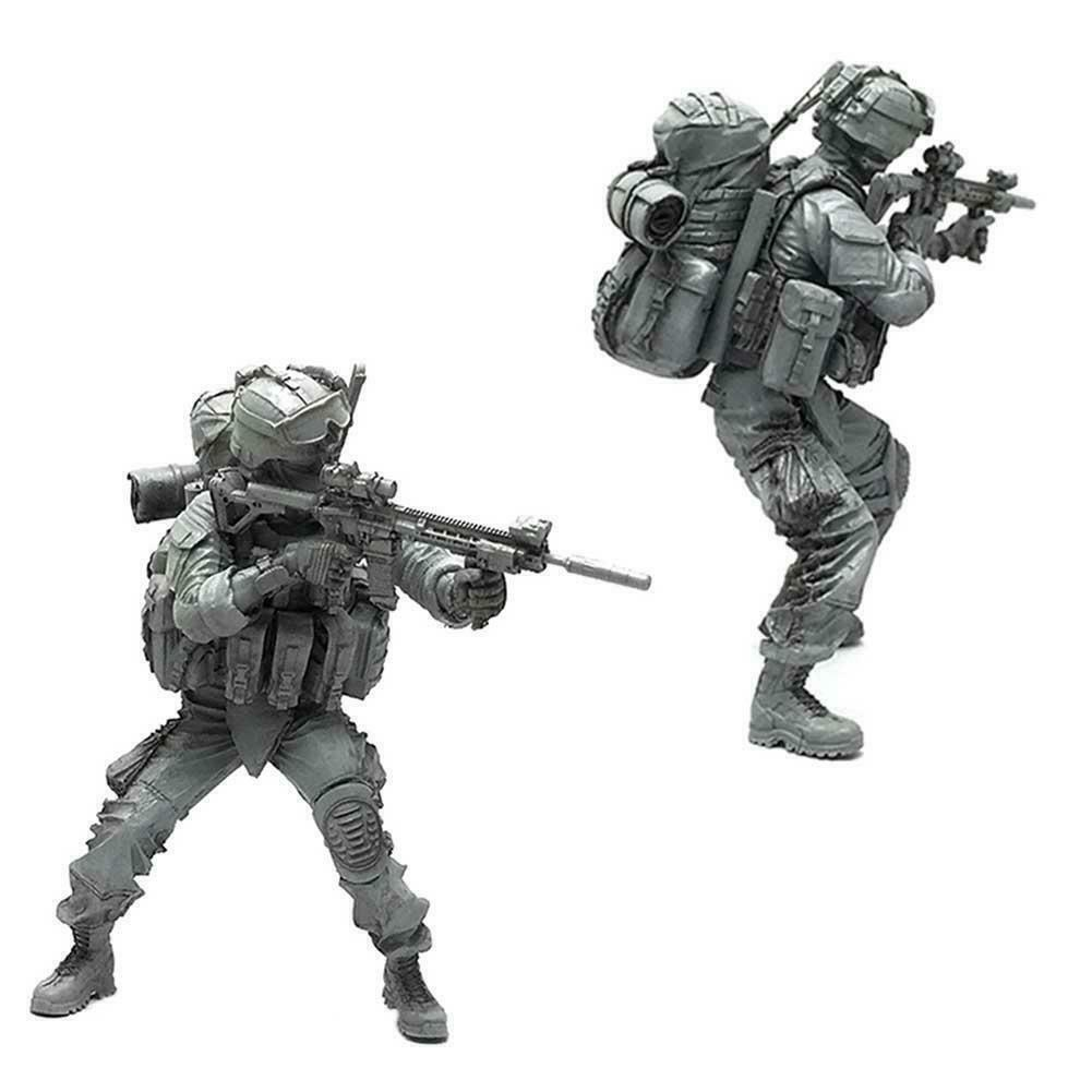 1//35 Resin Soldat Soldier Soldat Kommando mit Plattform Figuren Super A7B4