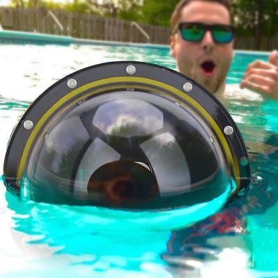 TELESIN Underwater Diving Case Dome Port Lens Shell Housing for GoPro Hero 7 6 5