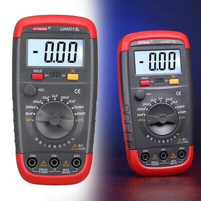New UA6013L Digital Auto Range Capacitor Capacitance Tester Meter BE