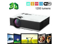 NEW,UC46 Wifi Full HD 1080P LED Video Projector Home Theater USB/VGA HDMI