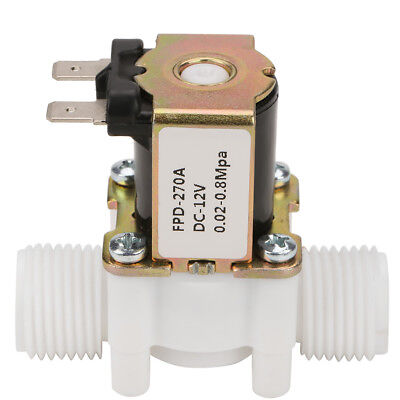12v G12 Nc Plastic Electrical Inlet Solenoid Water Valve For Water Dispense B
