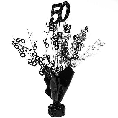 50 Black and Silver Centerpieces -pkg/6