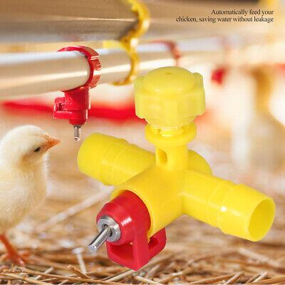 10 X Poultry Chicken Water Drinking Nipple Waterer Farm Hen Quail Drinker Feeder