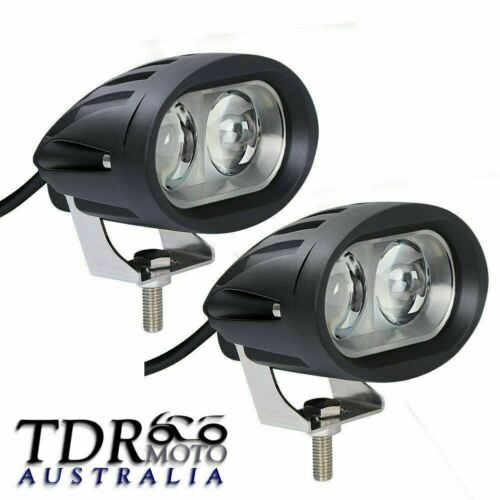 2X 10W CREE LED WORK LIGHT SPOT OFFROAD FOG LAMP FOR JEEP MOTORCYCLE 4WD SUV ATV