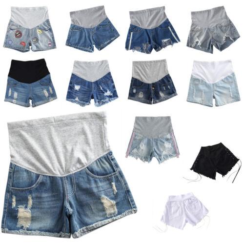 Sommer Denim Mutterschaft Shorts für schwangere Frauen Jeans häkeln Bauch Hosen
