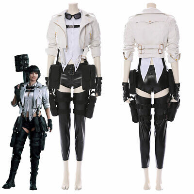 Devil May Cry 5 Costume Lady Mary Cosplay Jacket Women Full Set Suit Outfit