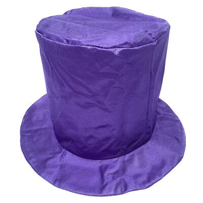 Child Shiny Purple Top Hat ~ HALLOWEEN, COSTUME, MARDI GRAS, NEW YEAR'S, PARTY