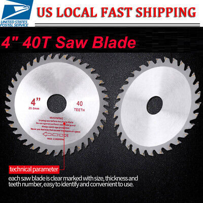 Saw Blade Disc for Angle Grinder 105mm TCT Wood Cutting Discs Circular 40 Teeth ()