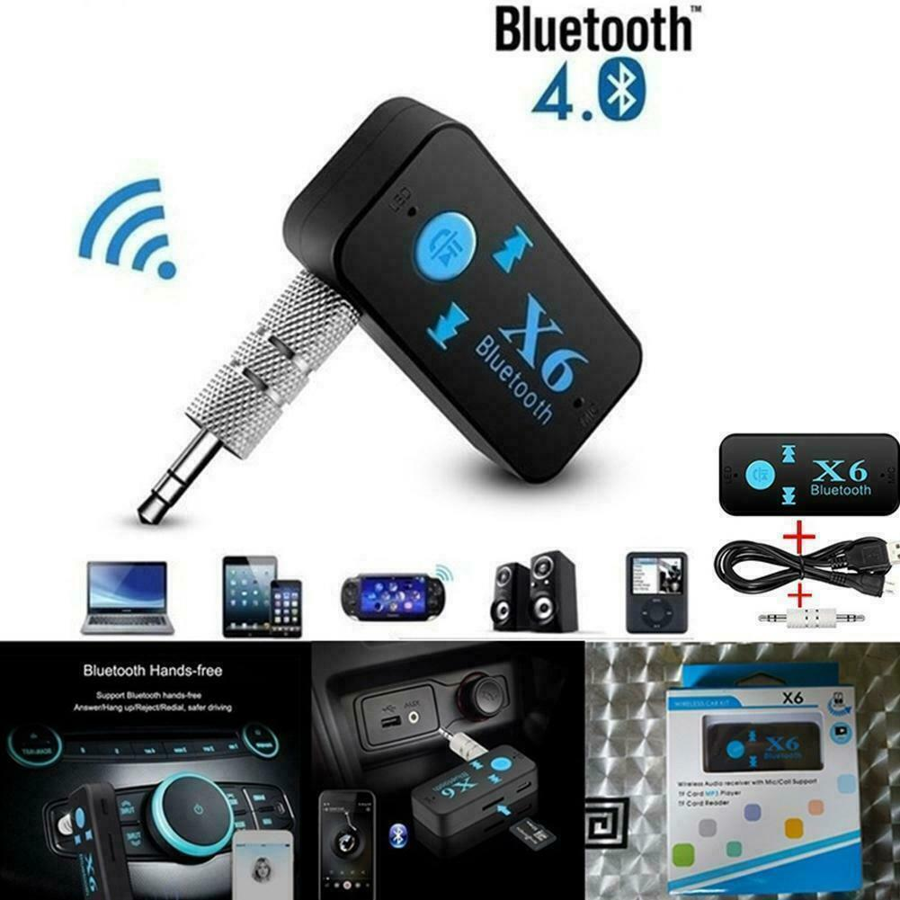 Bluetooth Adapter 3in1 Wireless 4.0 USB Receiver 3.5mm R TF