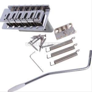 1 Set 6 Strings Stratocaster Electric Guitar Tremolo Bridge Bar System Parts New