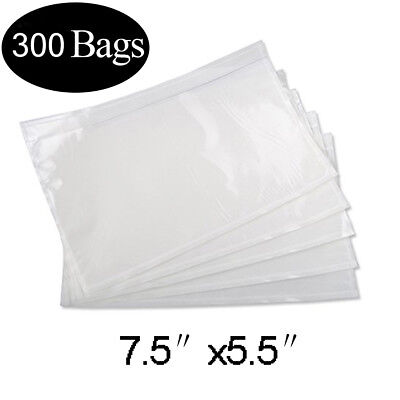 300 Packing List Pouches 7.5x5.5 Clear Shipping Label Invoice Enclosed Envelopes