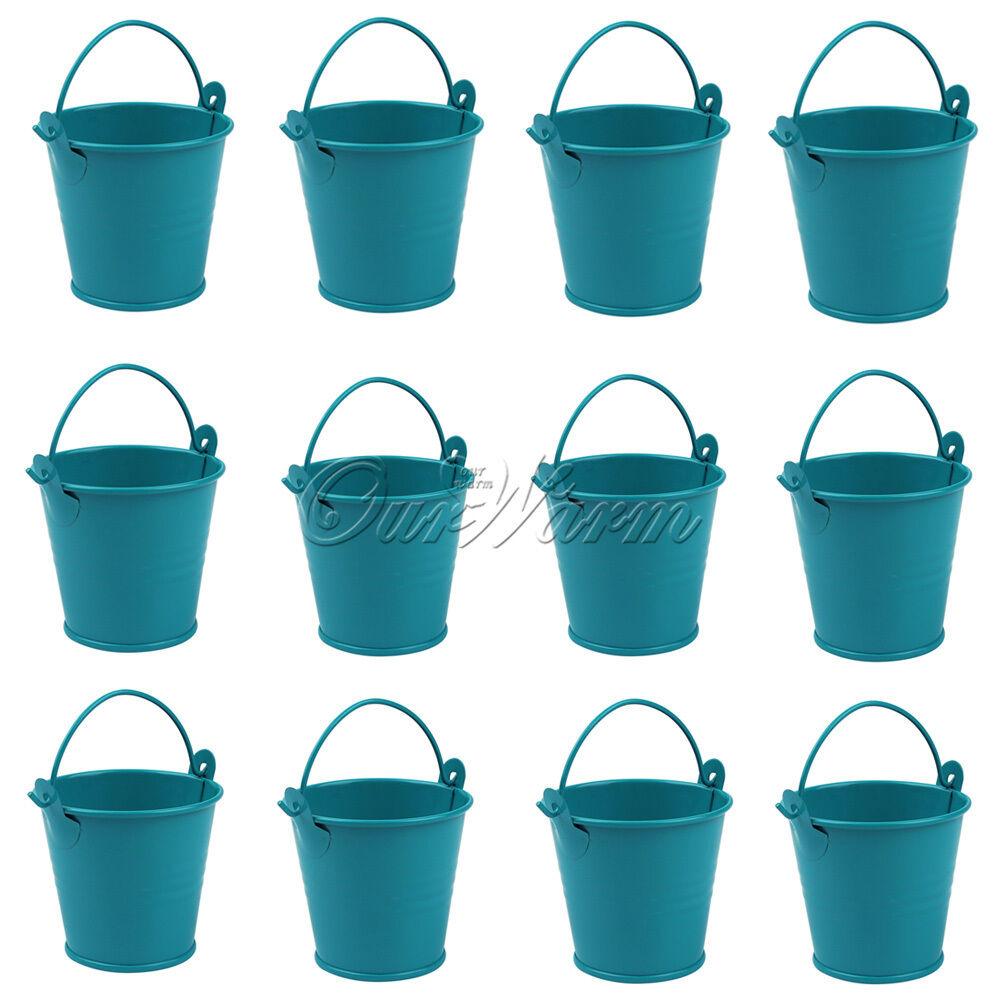 12x mini metal bucket tin candy box buckets xmas wedding for Small pail buckets