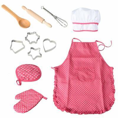 11er-Set Kochschürze Set Kinder Schürzen Anzieh Kostüm Weihnachten Geschenk - Koch Schürze Kostüm