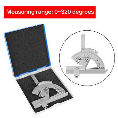 0-320 Precision Angle Measuring Finder Carbon Steel Bevel Protractor Universal