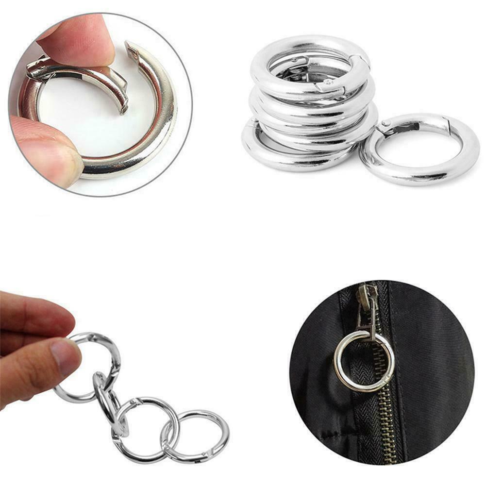 6Pcs/Set Circle Round Carabiner Camp Spring Snap Clip Keycha