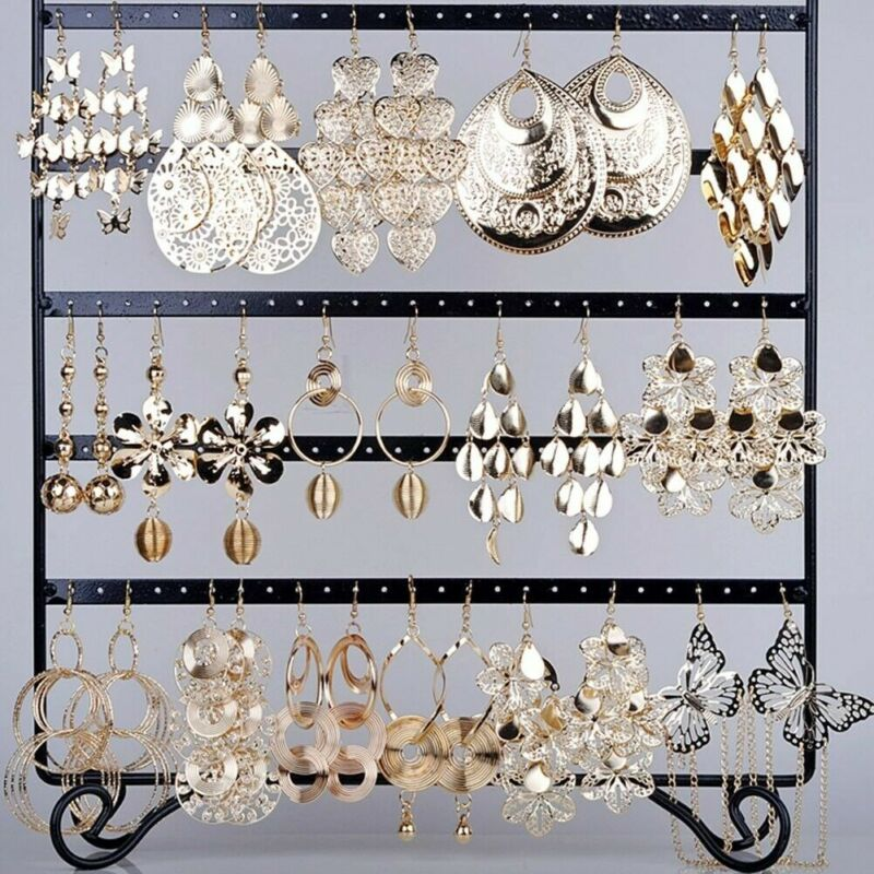 12 Pairs Wholesale Mixed Women Hook Drop Earrings Dangle Chandelier Jewelry Lot