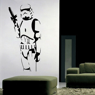 Stormtrooper Star Wars Wall Sticker Vinyl Mural Removable Decals DIY Home Decor
