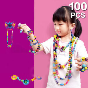 100PCS/SET Pop Beads Arty DIY Jewelry Necklace Kid Child Toy Snap Together Top