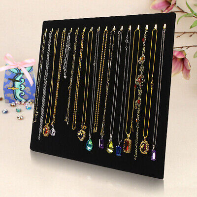 17 Hooks Earring Jewelry Necklace Display Rack Metal Stand Holder Organizer