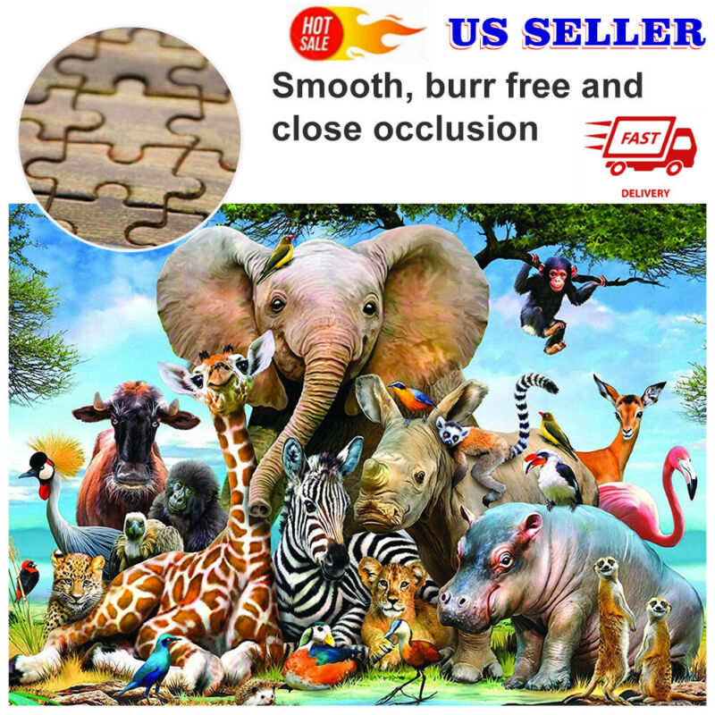 Jigsaw puzzles 1000 pieces Animal World Adult Kids Educational Puzzle Toy Gifts