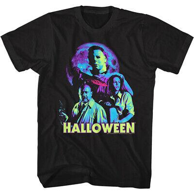 Michael Moon Halloween (Halloween Movie Michael Myers In The Neon Moon Adult T Shirt)