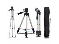 Camera Tripod With 3-Way Head Tripod Stand & Bag For compact and DSLR Camera