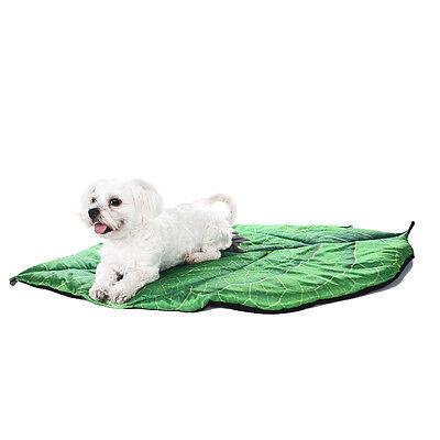 Green Leaf Shape Pet Dog Cat Bed Pad Summer Cushion Puppy Kennel Mat Blanket