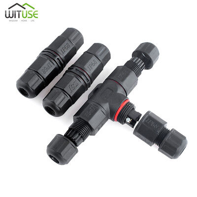 Ip68 Waterproof Cable Connector Electrical Terminal Wire Adapter 2 Pin3 Pin Ce