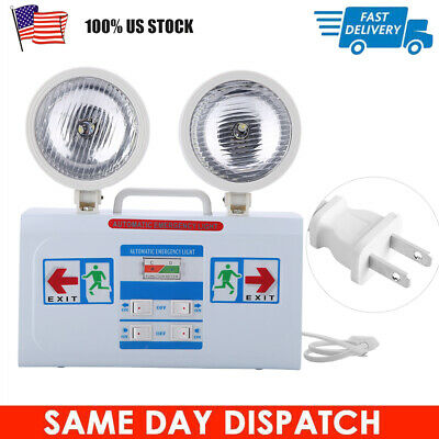 23w Led Emergency Exit Light Lamp Lighting Fixture Twin Round Heads Universal