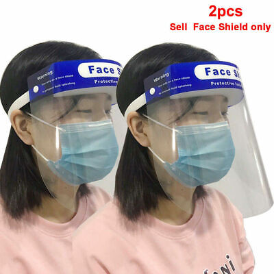 2PCS Safety Protective Splash Proof  Head-mounted Face Eye Shield Protective