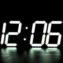 Large Big Number Digital Led Clock/Wall Alarm Wall Desk Clock Countdown Timer BT