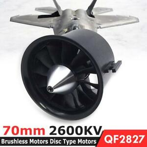 70mm 12Blade EDF Ducted Fan 4S QF2827 2600KV Brushless Motor for Jet AirPlane UK