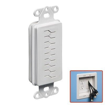 Decora Wall Plate Insert Flexible Opening Low Voltage AV Cable Pass Arlington Wall Plate Insert