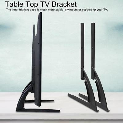 "Bracket for 14""-70"" Flat LED LCD Screen TV Desktop Table Top"